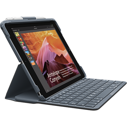 Logitech Slim Folio iPad Keyboard Case - Sort (Nordic)