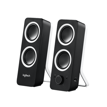 Logitech Z200 2.0 speaker system, Midnight Black