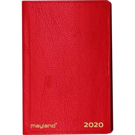 Lommekalender kunstskind rød 7x10cm tværformat 20 1620 30