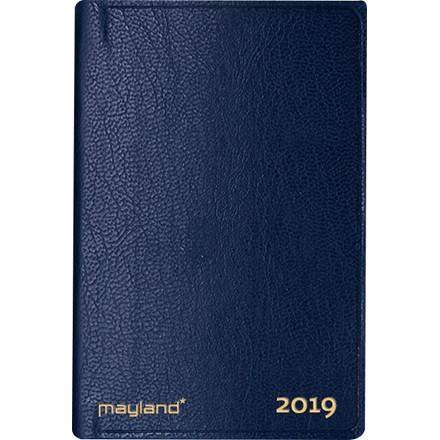 Lommekalender 2019 Mayland uge indbundet blå kunstskind 7 x 11 cm tværformat - 19 1620 00
