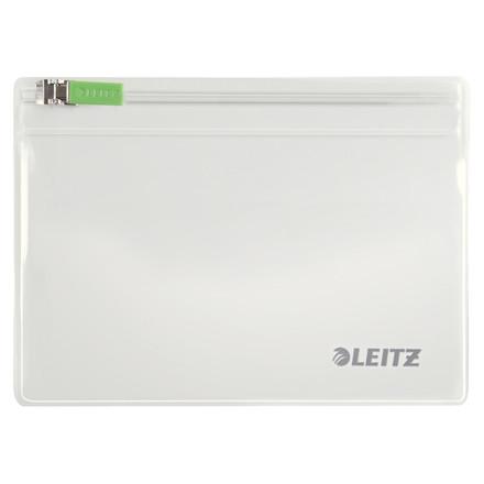 Lynlåslomme - Leitz Traveller glasklar 9 x 12,5 cm - 2 stk i pakke