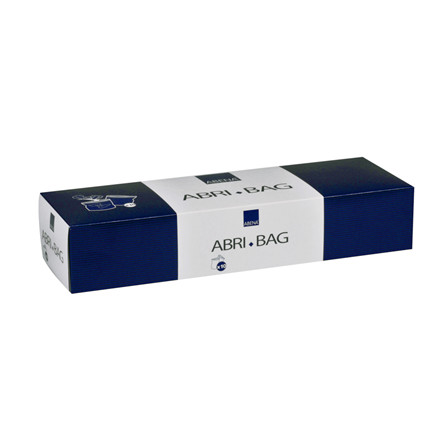 Lynlåspose, Abri-Bag, med bundfals på 5 cm, uden tryk, LDPE, blå, non-transparant, 50 my, 26x37 cm,
