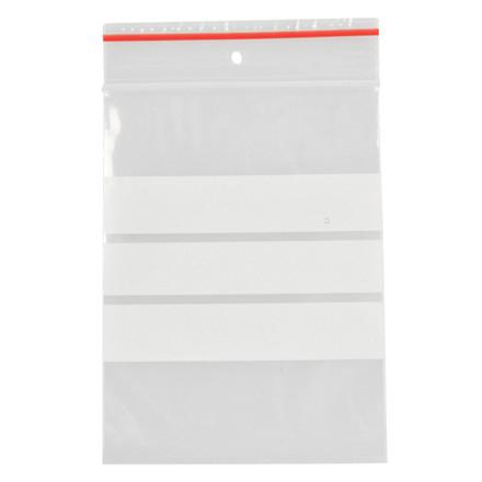 Lynlåspose, Easy-Grip, med skrivefelt, i displayboks, LDPE, transparent, 50 my, 6x8 cm,