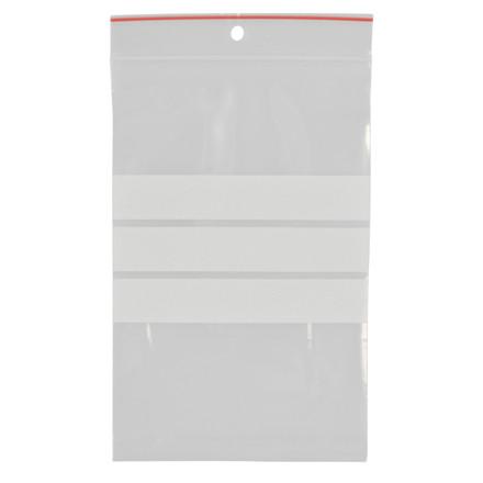 Lynlåspose, Easy-Grip, med skrivefelt, i displayboks, LDPE, transparent, 90 my, 10x15 cm,