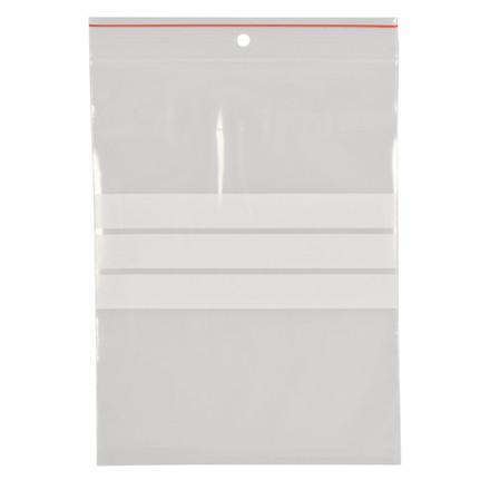 Lynlåspose, Easy-Grip, med skrivefelt, i displayboks, LDPE, transparent, 90 my, 15x20 cm,