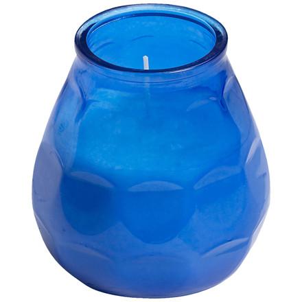 Lysbowle, Bolsius, 10,5cm, Ø9,5cm, blå, 70 timer, paraffin/glas, 100% paraffin, i glasbowle