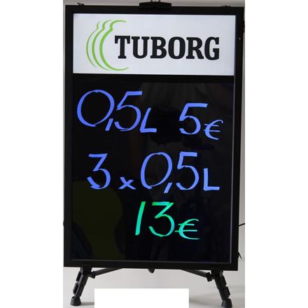 LED Lysskilt med logobox - 700 x 470 mm