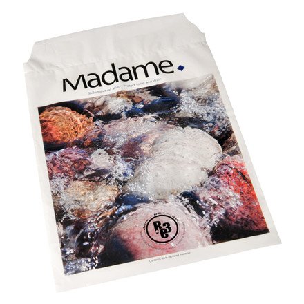 Madameposer hvid med sten 5 liter RE3 LDPE 24,50 x 35 cm - 35 my