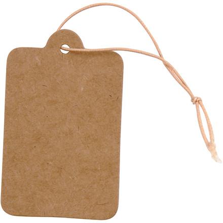 Mærkater, str. 25x40 mm, lys brun, 100stk.