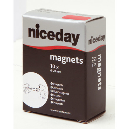 Magneter - niceday rød Ø 20 mm 980592 - 10 stk.