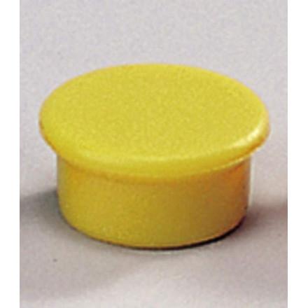 Magneter til tavle - Dahle 13 mm rund gul - 10 stk.