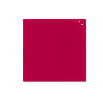 Magnetisk Glastavle - Naga 45 x 45 cm rød