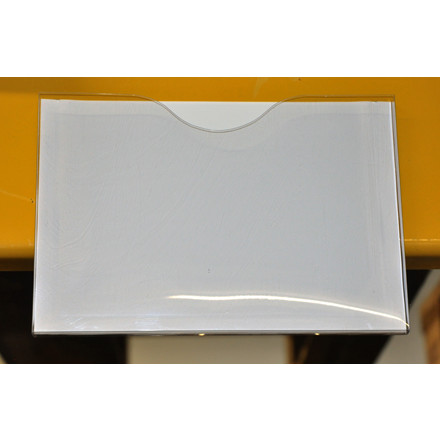 Magnetlomme A3 åben liggende hvid 1cm dyb 10stk/pak