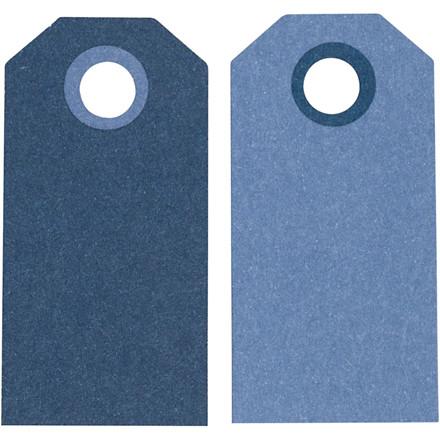 Manillamærker, str. 6x3 cm, 250 g, mørk blå/lys blå, 20stk.