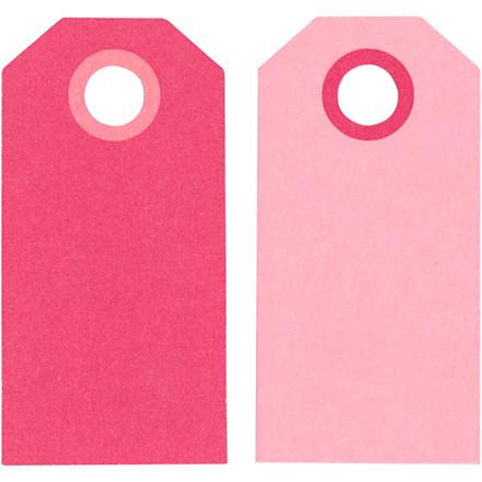 Manillamærker størrelse 6 x 3 cm 250 gram pink/rosa - 20 stk.