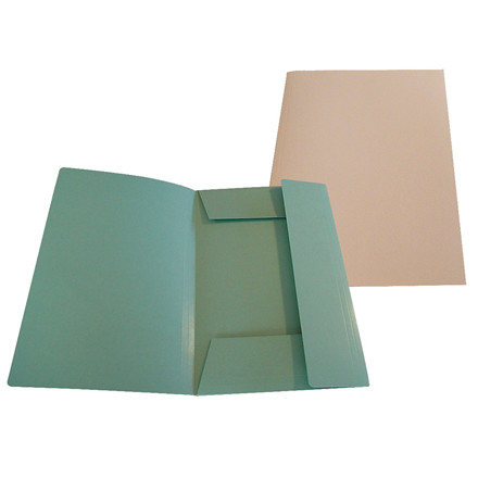 Mappe 125 med 3 klapper i rosa - A4 dokument karton - 250 gram