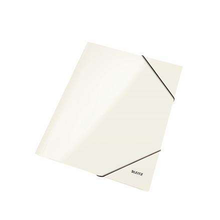 Leitz WOW 3-klap mappe A4 med elastik hvid - 39820001