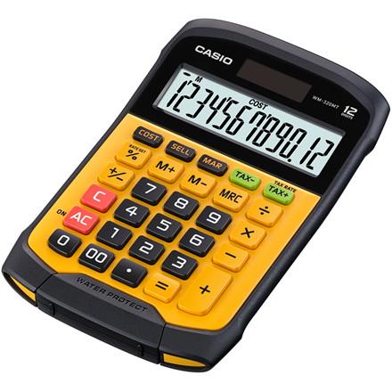 Mapperegner Casio WM-320MT vandtæt gul 12 cifre