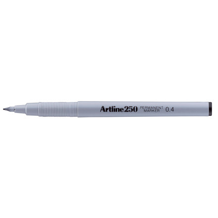 Artline 250 - Sort permanent marker 0,4 mm