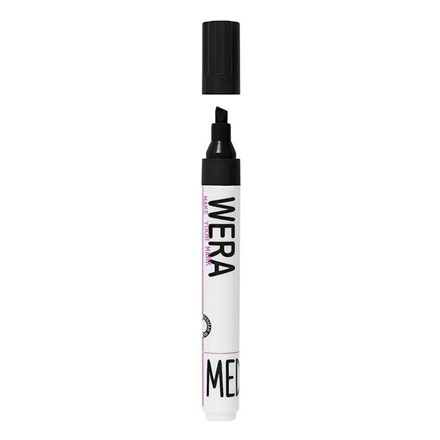 Marker WERA permanent sort kantet spids 1-4mm