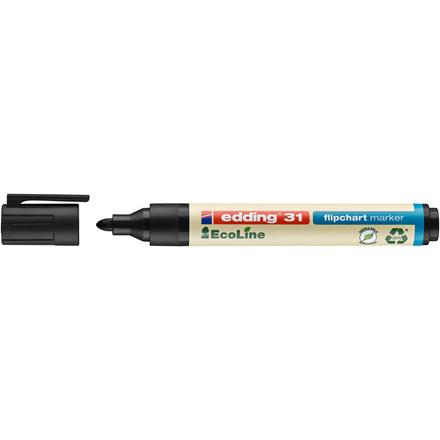 Marker edding 31 Flipchart EcoLine sort 1,5-3mm rund spids