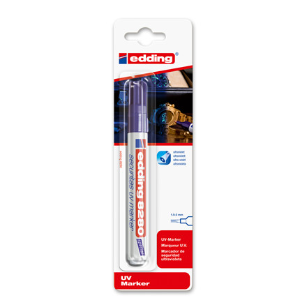 Marker Edding UV klar 8280 usynlig mærkning tyverisik.