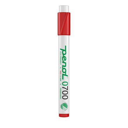 Marker Penol 0700 1,5mm rød rund spids permanent