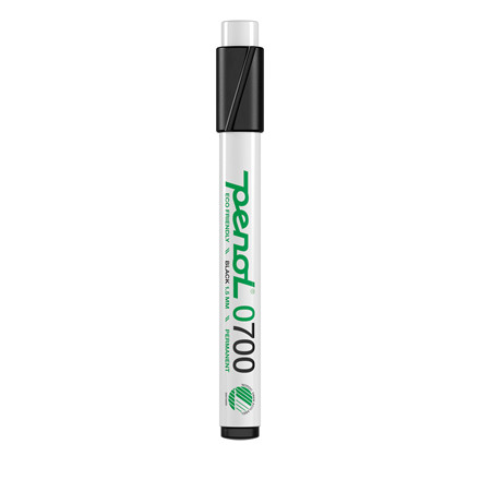 Marker Penol 0700 1,5mm sort rund spids permanent