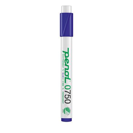 Marker Penol 0750 2-5mm blå skå spids permanent