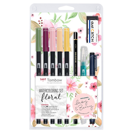 Marker Tombow ABT Dual Brush sæt Floral (9)
