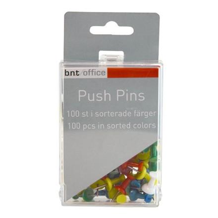 Markeringsnåle BNT Push Pins - Assorteret 100 stk i pakken