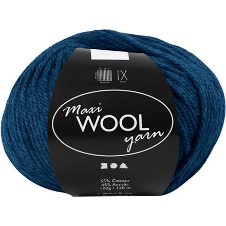 Maxi Wool uldgarn længde 125 meter blå | 100 gram