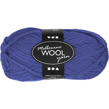 Melbourne uldgarn længde 92 meter blå - 50 gram