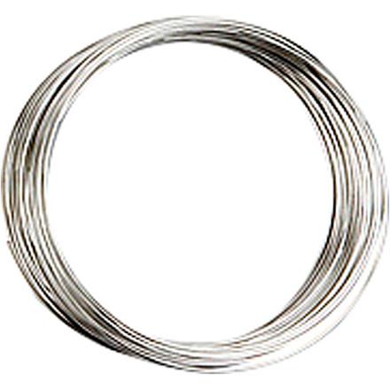 Memory wire, tykkelse 0,7 mm, dia. 5 cm, forsølvet, FS, 1stk., ca. 9,7 m