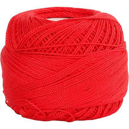 Merceriseret bomuldsgarn rød - 20 gram