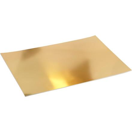 Metalkarton, A2 420x600 mm, 280 g, guld, 10ark