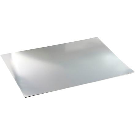 Metalkarton, A2 420x600 mm, 280 g, sølv, 10ark