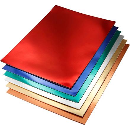 Metalkarton A4 21 x 30 cm 280 gram assorteret farver | 30 ark