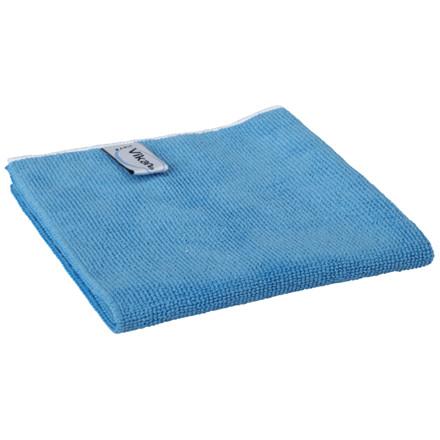 Microfiber klud, Vikan ErgoClean, blå, basic, 80% polyester, 20% polyamid, 32x32 cm