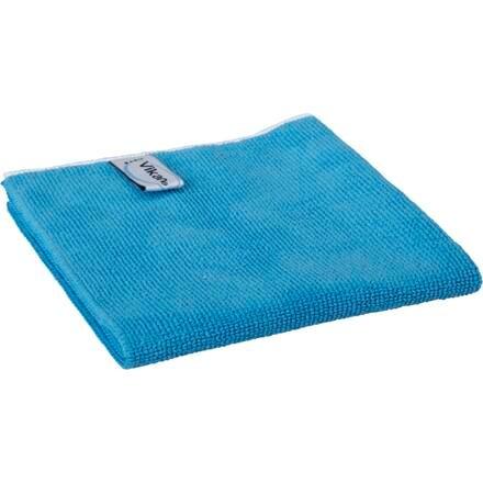 Microfiber klud, Vikan ErgoClean, blå, basic, 80% polyester, 20% polyamid, 40x40 cm