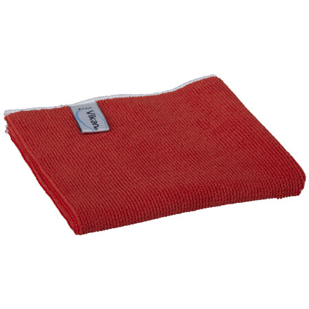 Microfiber klud, Vikan ErgoClean, rød, basic, 80% polyester, 20% polyamid, 40x40 cm