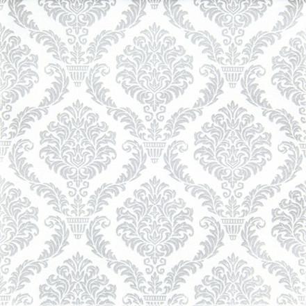 Middagsserviet, 1/4 fold, design, sølv, airlaid, 40cm x 40cm