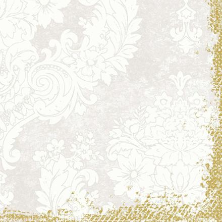 Middagsserviet, Duni Royal, 3-lags, 1/4 fold, 40x40cm, frosted hvid, papir