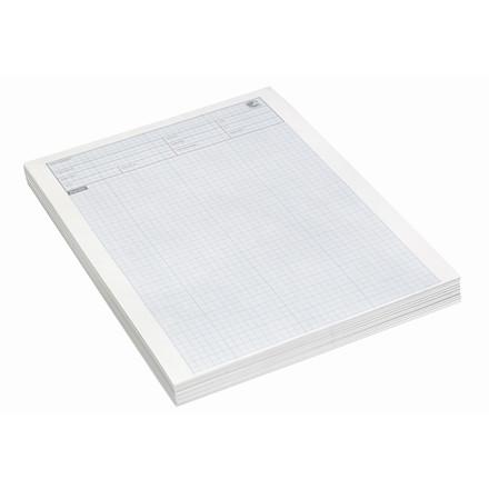 Millimeterpapir Eksamenspapir A4 60g blå u/huller