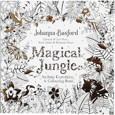 Mindfulness malebog,  , str. 25x25 cm, 80 sider, Magical Jungle, 1stk.