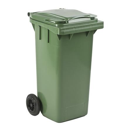 Mini-affaldscontainer, grøn, 120 l