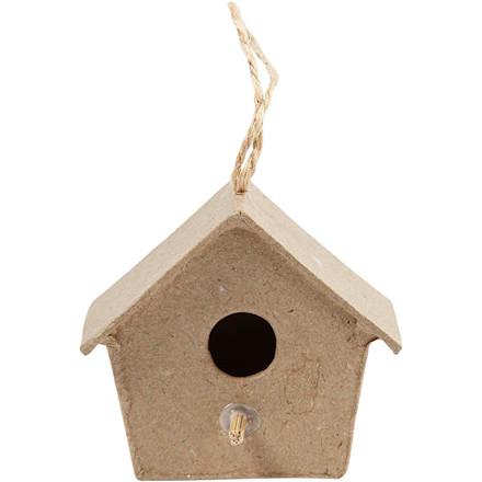Mini-fuglehus, H: 5 cm, 4stk.
