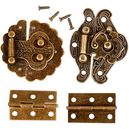 Minibeslag størrelse 30-35 mm antik guld | 30 stk.