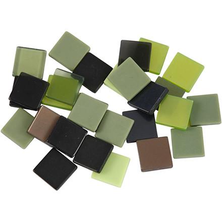 Minimosaik størrelse 10 x 10 mm grøn harmoni | 25 gram