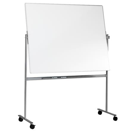 Mobil svingtavle - Lintex dobbelsidet whiteboard på stativ 150 x 120 cm